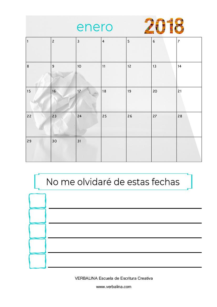 agenda del escritor 2018-4