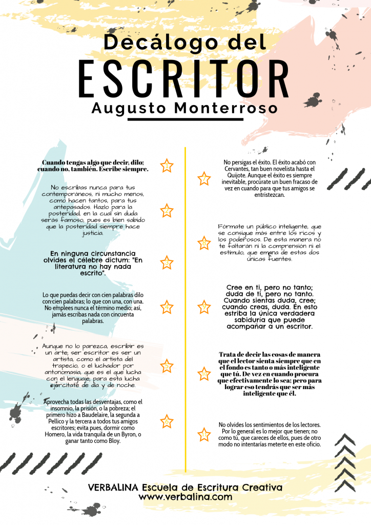 consejos de escritores famosos-monterroso